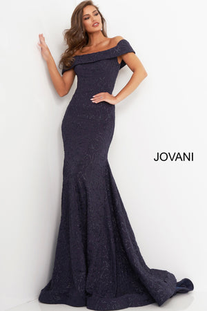 Jovani 4564 Off the Shoulder Fitted Evening Dress