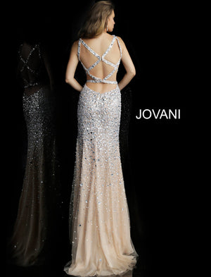 Jovani 59846 Beaded High Slit Long Dress