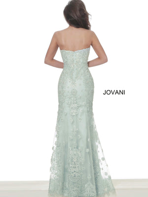 Jovani 60432Embroidered Strapless Evening Dress