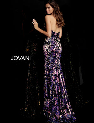 Jovani 62026 Sequin Strapless Fitted Long Dress