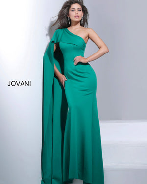 Jovani 67850 One Shoulder Fitted Evening Dress