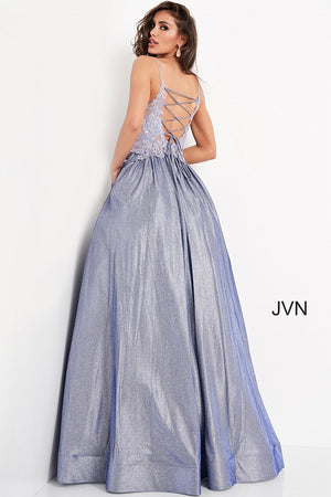 JVN03038 Embroidered Bodice Prom Ballgown