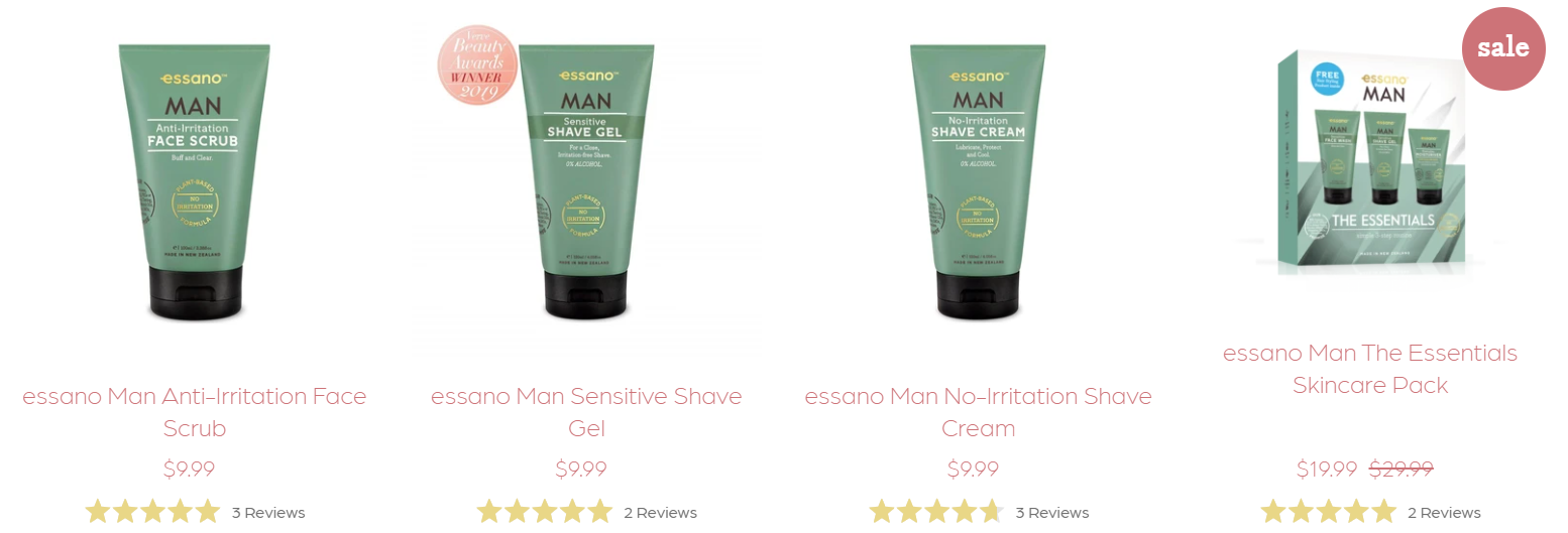 Browse essano Man for Father's Day