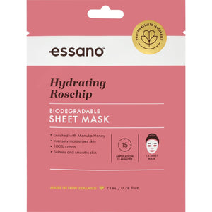 Hydrating Rosehip Biodegradable Sheet Mask