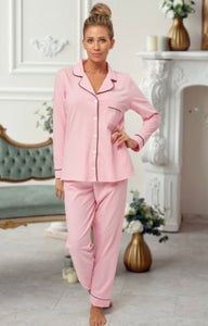 Personalised Pink cotton pyjamas