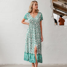 Load image into Gallery viewer, Peony dress- floral maxi dress