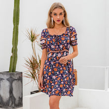 Load image into Gallery viewer, Tulip dress- floral mini dress