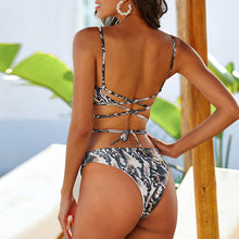Load image into Gallery viewer, Wild Designs bikini set- Gopher snake print