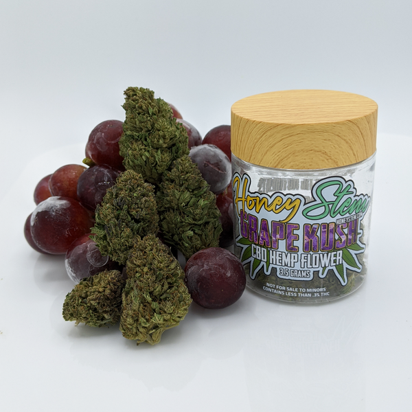 CBD Hemp Flower - Grape Kush (3.5g) [15.1% CBD]