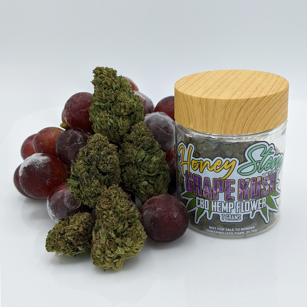 CBD Hemp Flower - Grape Kush (7g) [15.1% CBD]