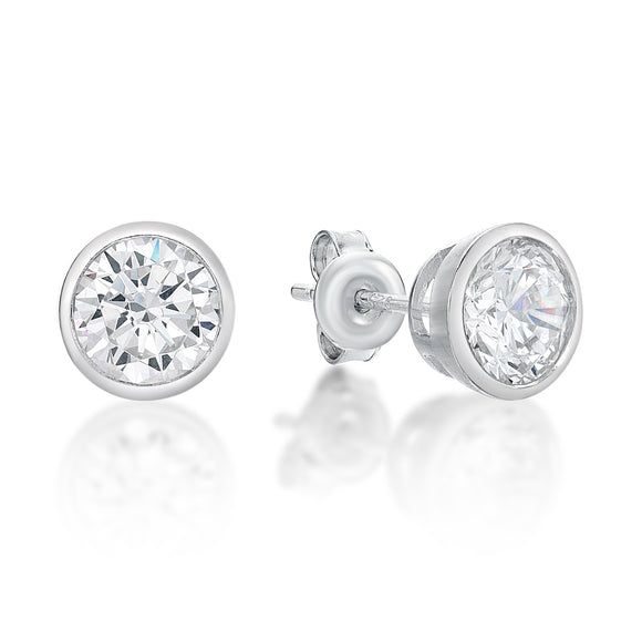 Cubic Zirconia Stud Earrings   CJS 26-33