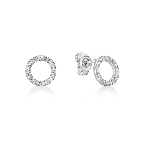 Cubic Zirconia Stud Earrings   CJS 01