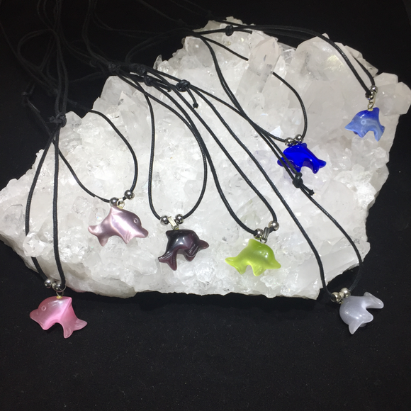 Cats Eye Dolphin Necklaces