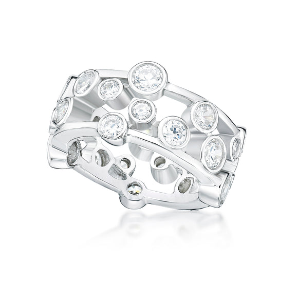 Cubic Zirconia Silver Ring  CJR12