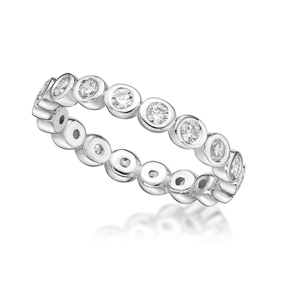 Cubic Zirconia Silver Ring   CJR20