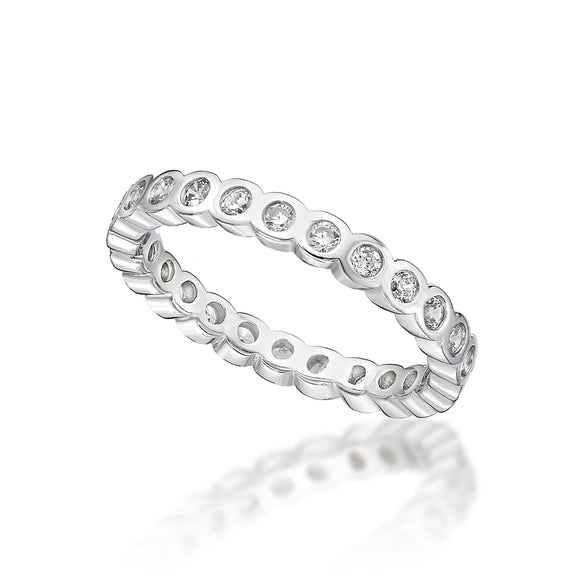 Cubic Zirconia Silver Ring   CJR19