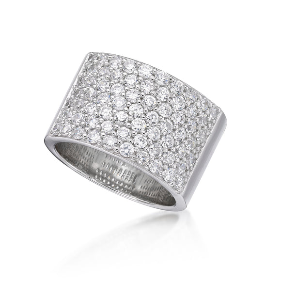 Cubic Zirconia Silver Ring  CJR16
