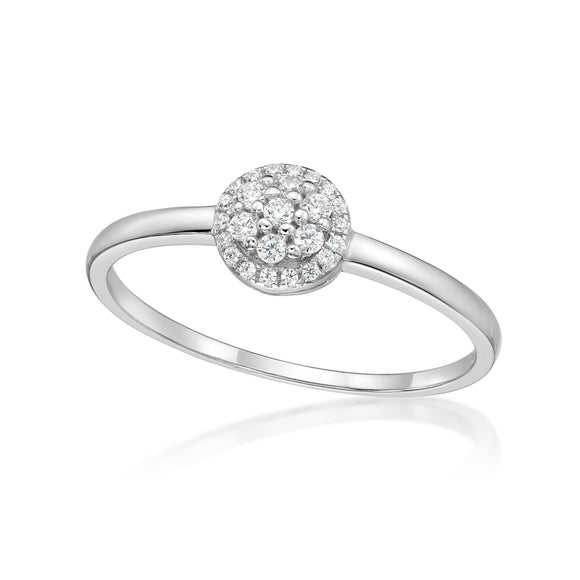 Cubic Zirconia Silver Ring  CJR01