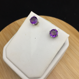 Amethyst Stud Earrings    SE 07