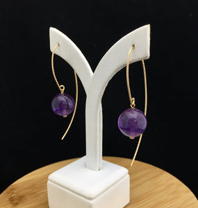 Amethyst Earrings              AE 45