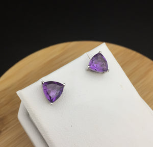 Amethyst Stud Earrings                SE 08