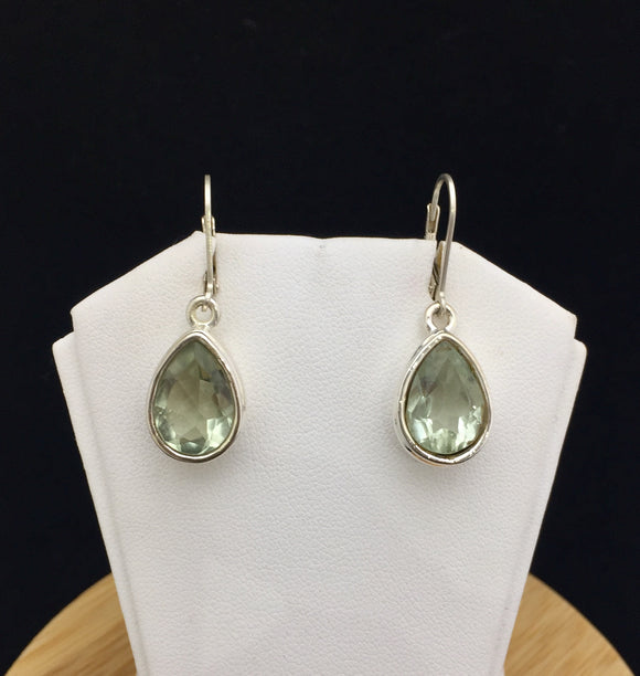 Green Amethyst Earrings          GAME 03