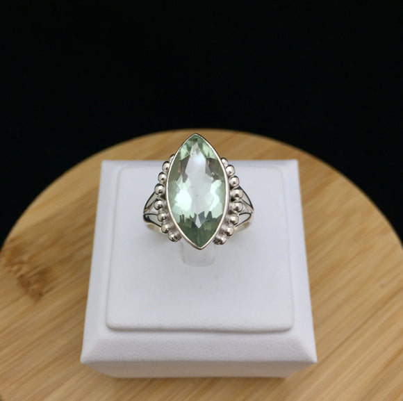 Green Amethyst Ring   GAMR 03