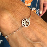 "Cubic Zirconia ""Tree of Life"" Bracelet   SBR 51"
