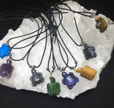 Gemstone Turtle Necklaces