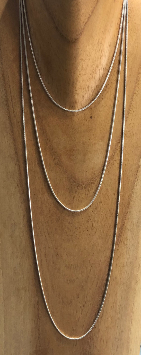 Silver Snake Chain 1.5mm