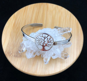 "Silver ""Tree of Life"" Cuff Bangle"