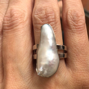 """Special Concept"" Biwa Pearl ring"