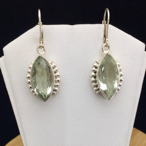 Green Amethyst Earrings    GAME 02