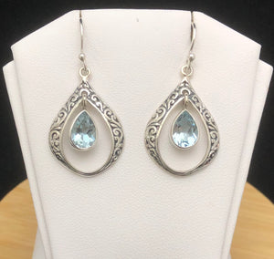 Blue Topaz Earrings    BTE 06