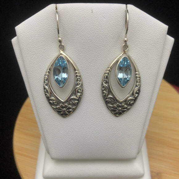 Blue Topaz Earrings    BTE 07