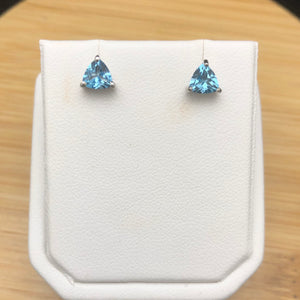 Blue Topaz Stud Earrings     BTE 18
