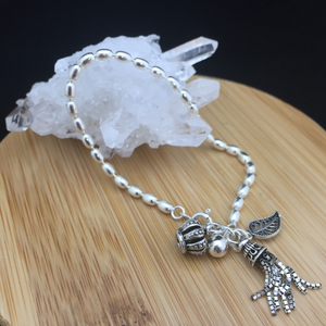 Silver Bracelet with Charms