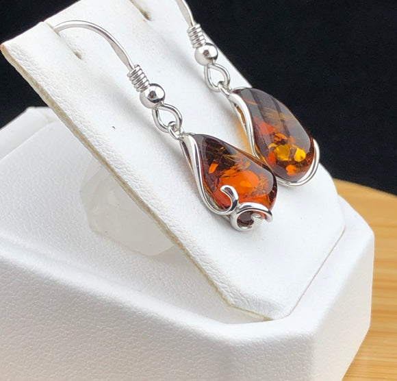 Amber Earrings   AMBE 18