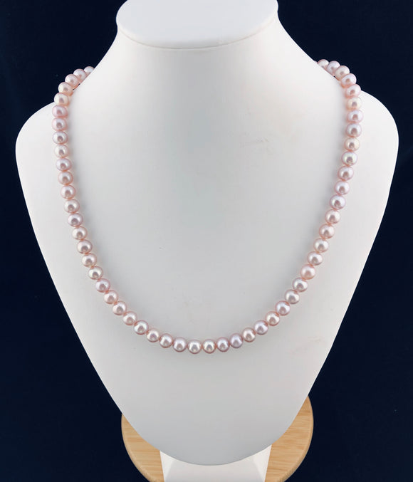 Freshwater Pink Pearl Necklace