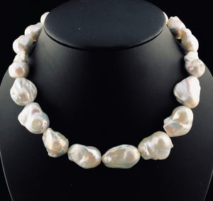 "Edison ""Explosion"" Baroque Pearl Necklace   OLN 15"