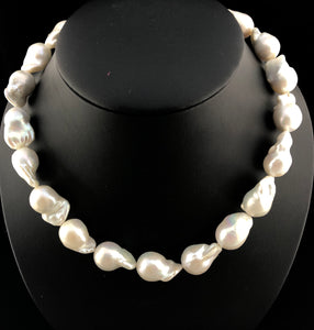 "Edison ""Explosion"" Baroque Pearl Necklace   OLN 17"