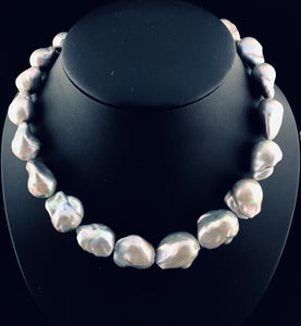 "Edison ""Explosion"" Baroque Pearl Necklace   OLN 18"