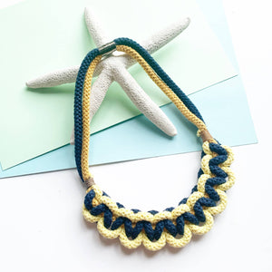 Knotted Statement Necklace - Sustainable Rope Necklace