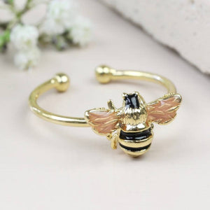 Adjustable Bee Ring in Gold