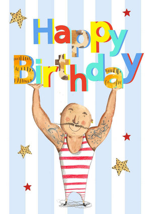 Greeting Card - Strong Man Birthday
