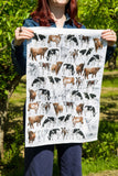 Cows 100% Cotton Tea Towel