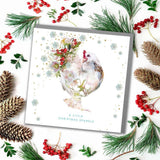 Christmas Sparkle French Hen Card (6pcs)