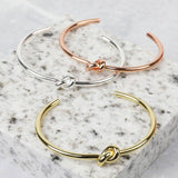 Open Knot Bangle in Rose Gold