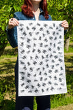 Black Bees 100% Cotton Tea Towel