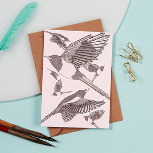 Greeting Card - Magpies